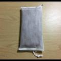 【レビュー】不織布の巾着袋を革小物の保管用に買ってみた【長財布サイズにぴったり】
